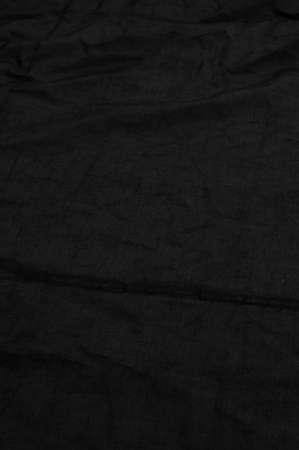 crinkled: crumpled black