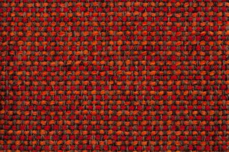 checked fabric: beautiful red orange checked fabric Stock Photo