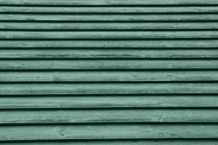 close p: green wooden wall Stock Photo