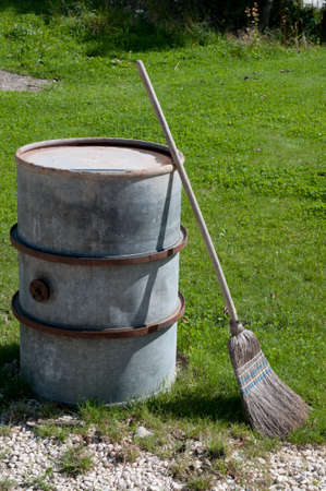 besom: besom and barrel