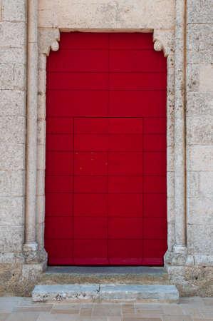 large doors: red door Stock Photo