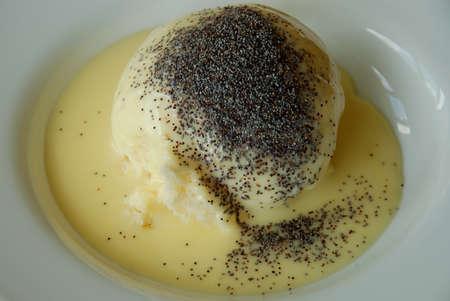 yeast: Dampfnudel  yeast dumpling Stock Photo