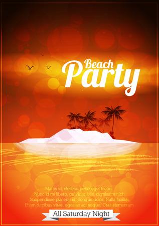 sunrise beach: Summer Beach Party Flyer Design