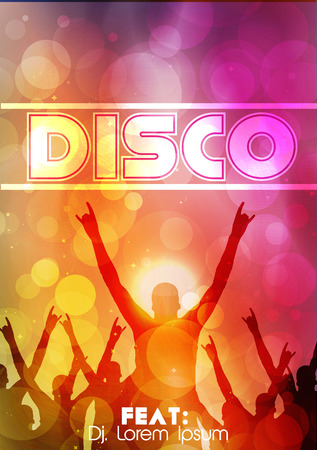 disco party: Dance Party Poster Background Template - Vector Illustration Illustration