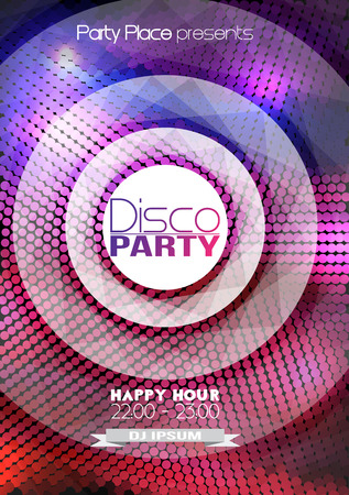 Dance Party Poster Background Template - Vector Illustration 向量圖像