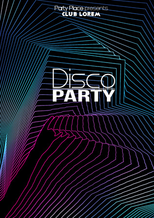flyer party: Dance Party Poster Background Template - Vector Illustration Illustration