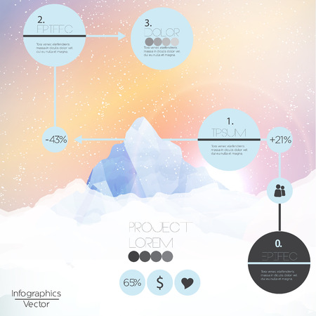 Mountains infographic - Vector Illustration Vector