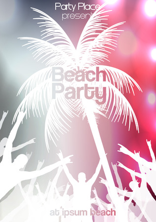 discotheque: Summer Beach Party Flyer Template Illustration Illustration
