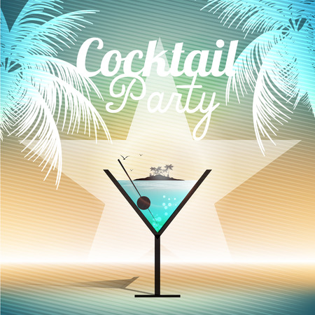 concert poster: Cocktail Party Invitation Poster