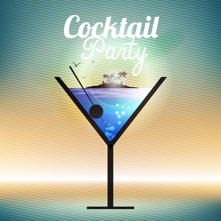 happy hours: Cocktail Party Invitation Poster