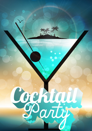 Cocktail Party Invitation Poster Imagens - 30497158