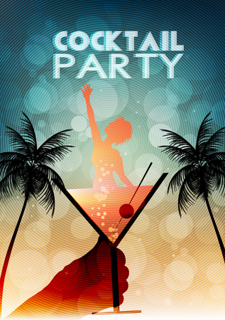 Cocktail Party Invitation Poster Template Фото со стока - 30723043