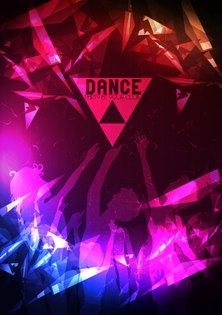 Dance Party Poster Background Template  イラスト・ベクター素材