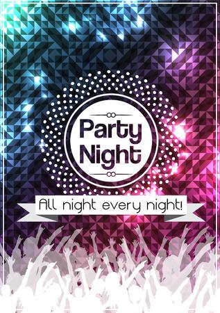 Plantilla del fondo del Partido de la noche Poster