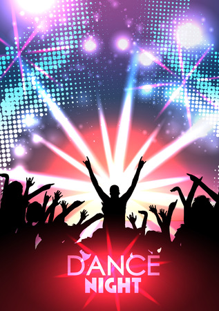 Disco Party Poster Background Template - Vector Illustration 向量圖像