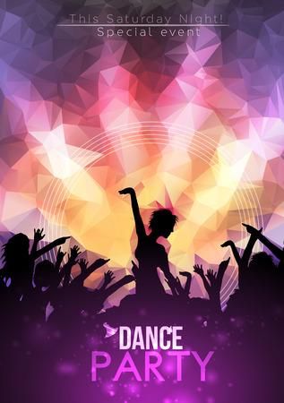 Dance Party Affiche Contexte modèle - illustration vectorielle