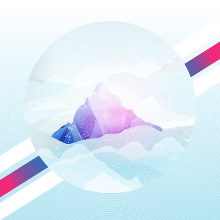 Mountain Abstract Background - Vector Illustration Vector