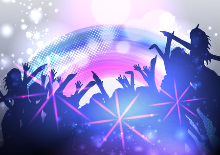 partying: Disco Party Poster Background Template  Illustration
