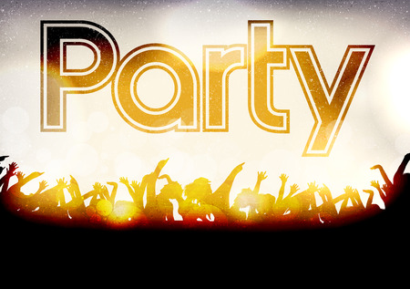partying: Disco Party Poster Template - Vector Illustration