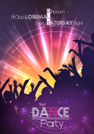 party night: Dance Party Poster Background Template - Vector Illustration Illustration