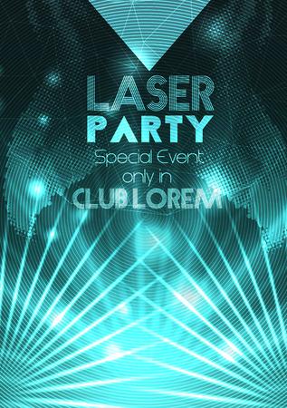 Partido del laser del disco Plantilla del cartel de fondo - ilustración vectorial