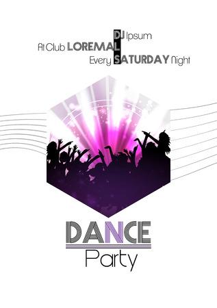 modern dance: Modern Dance Party Poster Background Template - Vector Illustration