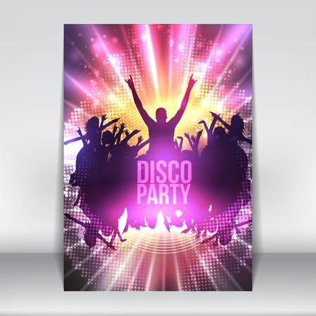 Dance Party affiche de nuit Contexte modèle - illustration vectorielle