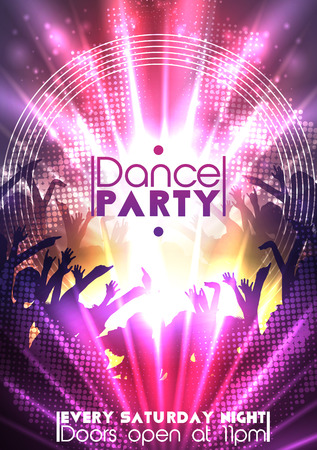 disco girls: Disco Party Background  Vector Illustration