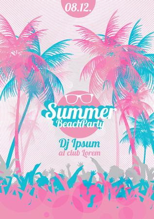 Retro Summer Beach Party Vector Flyer illustration vectorielle Banque d'images - 41323659