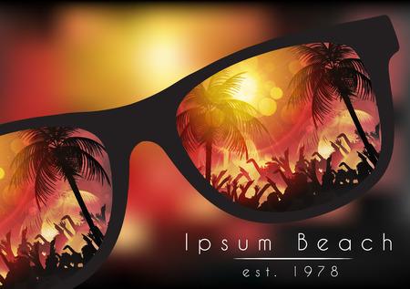 beaches: Summer Beach Party Poster - Vector Illustration Illustration