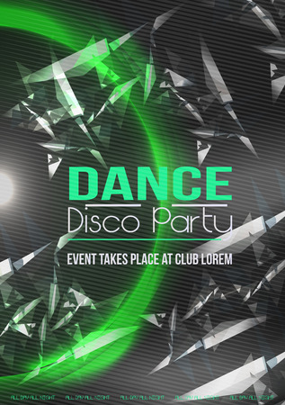 disco background: Dancing People Party Crowd Disco Background - Vector Illustration