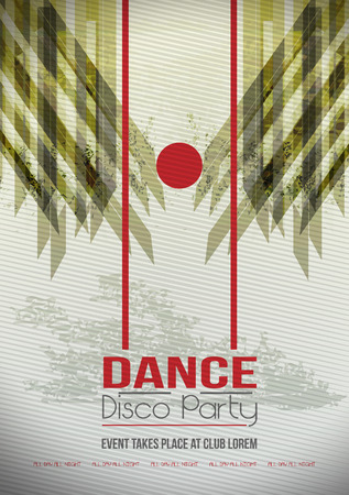 light spot: Dancing People Party Crowd Disco Background - Vector Illustration