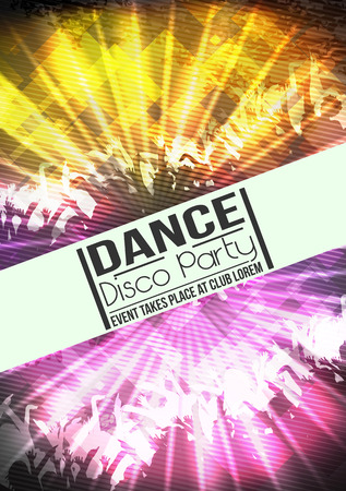 disco background: Disco Party Background - Vector Illustration Illustration