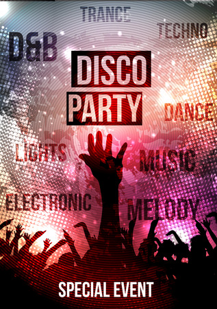party background: Disco Party Background - Vector Illustration Illustration