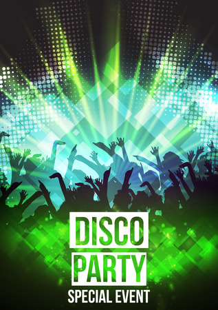 Disco Party Background - Vector Illustration  イラスト・ベクター素材