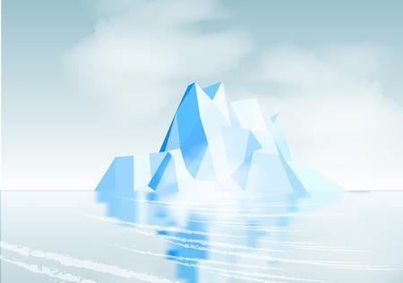 berg: Iceberg with Reflection - Vector Illustration