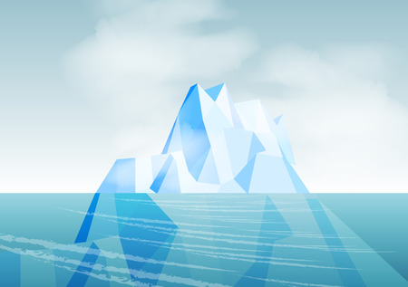extreme science: Iceberg - Vector Illustration