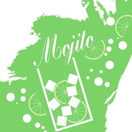 mojito: Mojito Cocktail - Vector Illustration