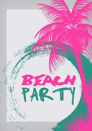Festa na praia do verão impressão - ilustração do vetor Ilustração