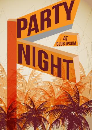 sensation: Summer Beach Party Poster - Vector Illustration Illustration