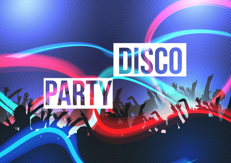 disco: Disco Party Background - Vector Illustration Illustration