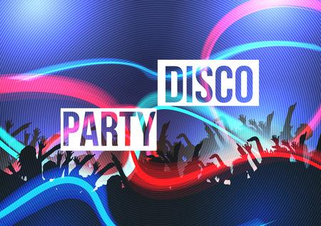 Disco Party Background - Vector Illustration Ilustração