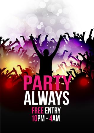 party club: Dance Party Poster Background Template - Vector Illustration Illustration
