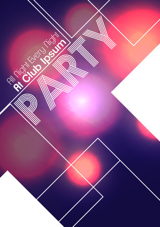 Abstract Party Flyer - Vector Illustration