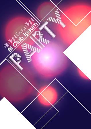 Aletta di filatoio astratta del partito - illustrazione di vettore
