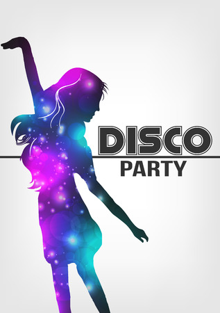 youngsters: Disco Night Party Poster Background Template - Vector Illustration