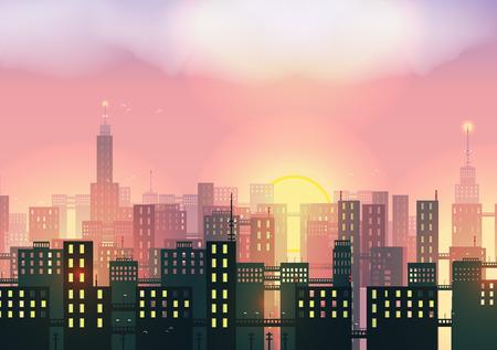 skylines: City Skylines - Vector Illustration Illustration