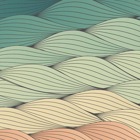 clots: Colorful Waves Backdrop Texture - Vector Illustration Illustration