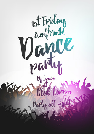 Dance Party Poster Background Template - Vector Illustration Vector Illustration