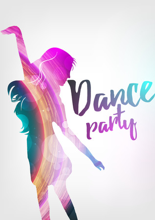 male teenager: Disco Night Party Poster Background Template - Vector Illustration
